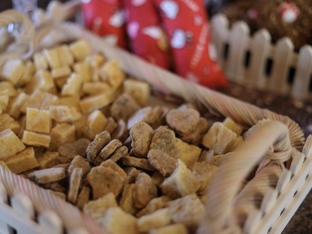 natural and handmade horse treats on display in a basket