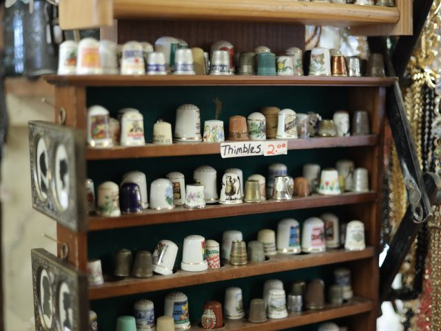 old porcelain and metal thimbles for sale