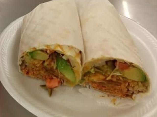 fresh burrito with avocado from las martitas