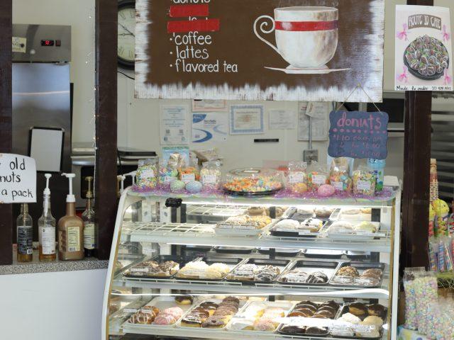 donut display case