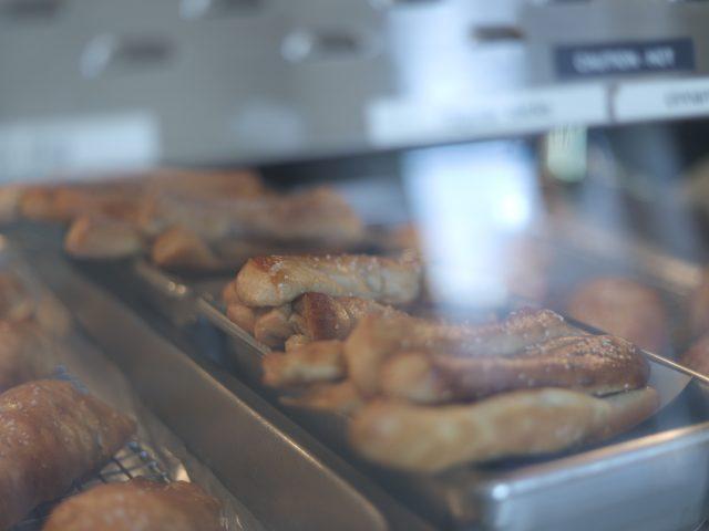 freshly baked soft pretzel rods