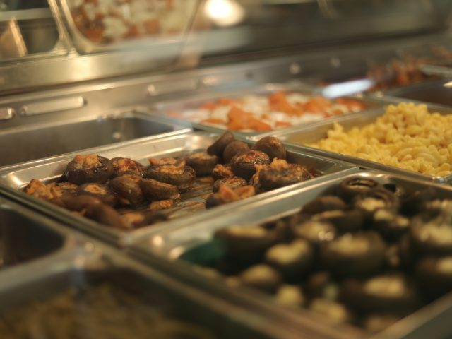 handmade stuffed mushrooms and other sides for sale