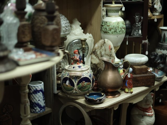 old vases and home decor for sale
